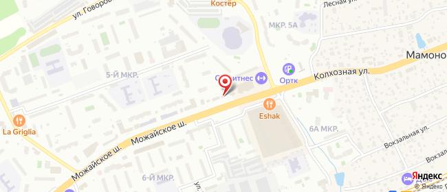 Карта расположения пункта доставки Одинцово Можайское в городе Одинцово
