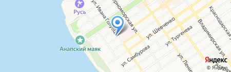 Продуктовый магазин на Крымской на карте Анапы