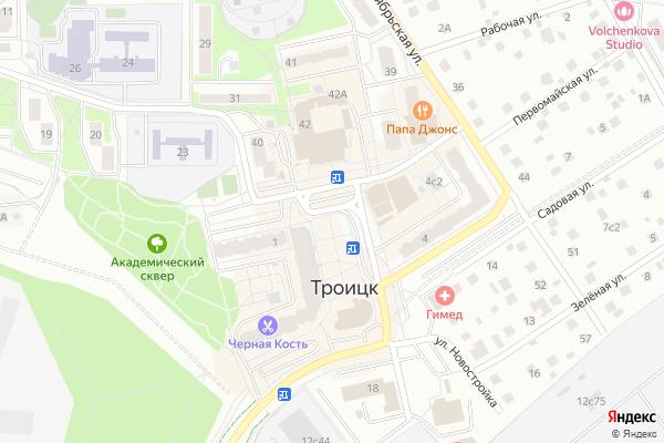 Ремонт телевизоров Город Троицк на яндекс карте
