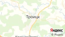 Гостиницы города Троицк на карте