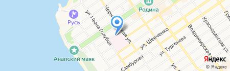 Новороссийский медицинский колледж на карте Анапы