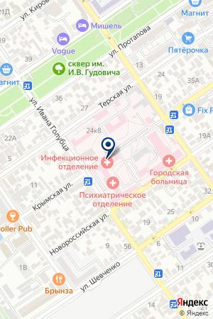 Городская больница на карте Анапы