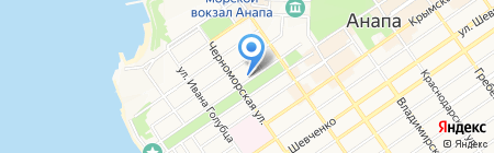 АСТ на карте Анапы
