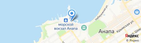 Кубань-СПАС ГУ на карте Анапы