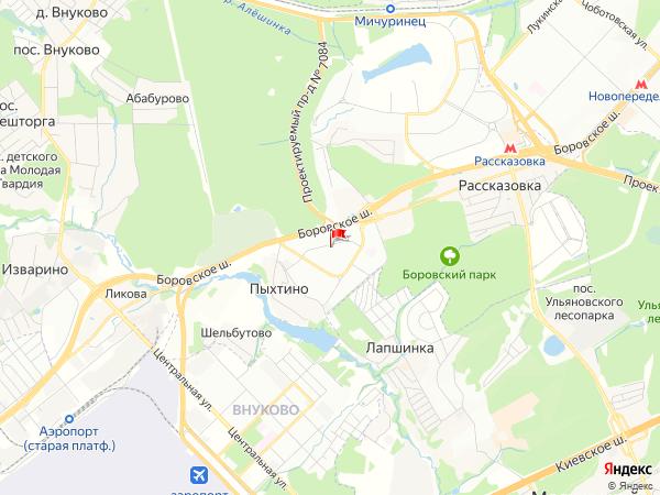 Карта населенный пункт Солнцево-Парк