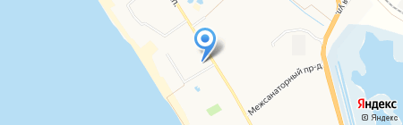 Апартамент на карте Анапы