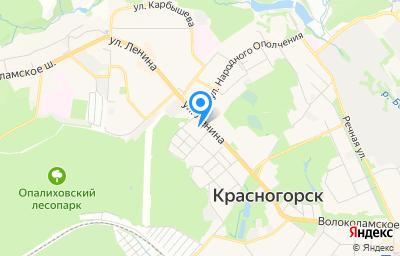 Местоположение на карте пункта техосмотра по адресу Московская обл, г Красногорск, ул Губайлово, д 53 стр 1, пом 1
