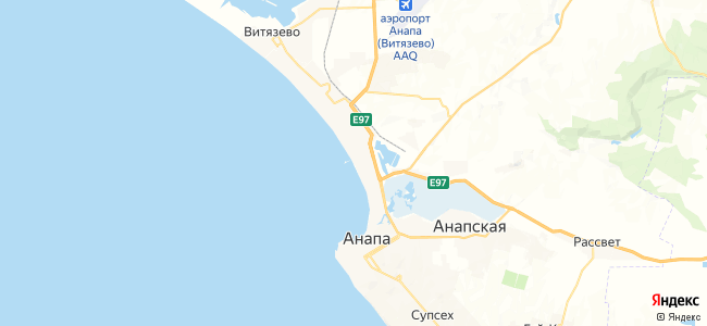 Отдых в Анапе - объекты на карте