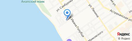 Sunny hotel на карте Анапы