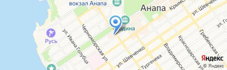 Анапское Черноморье на карте Анапы