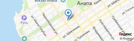 Банкомат Банк Возрождение на карте Анапы
