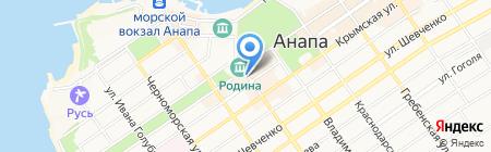 Фанагория на карте Анапы