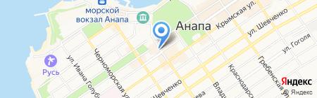 Магазин очков на Астраханской на карте Анапы
