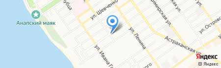 Магазин овощей на ул. Гоголя на карте Анапы