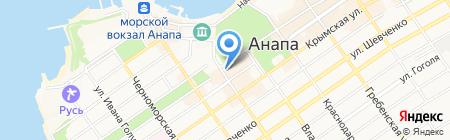 Нина на карте Анапы