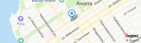 ЭдиРоз на карте Анапы