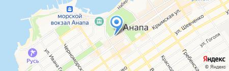 Подсолнух на карте Анапы