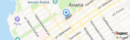 Променад на карте Анапы