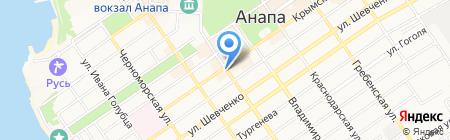 Время на карте Анапы