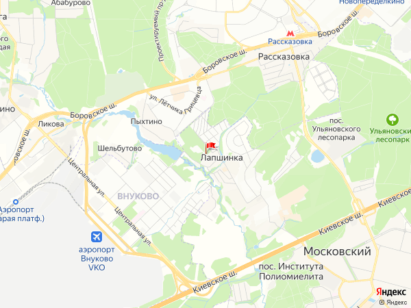 Карта населенный пункт Лапшинка