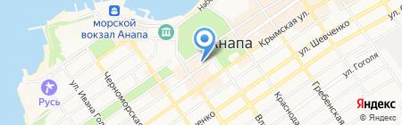 Центральное на карте Анапы