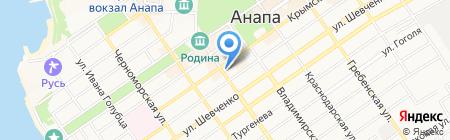 Прага-9 на карте Анапы