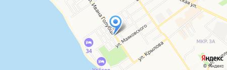 Милашка на карте Анапы