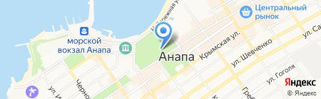 Летняя эстрада на карте Анапы