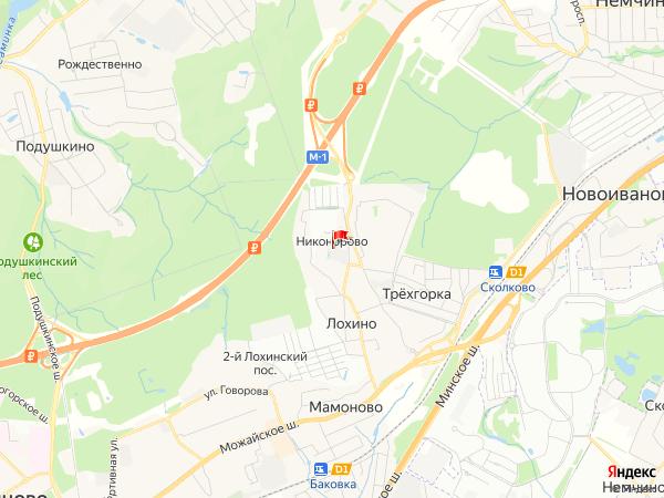 Карта населенный пункт Никонорово