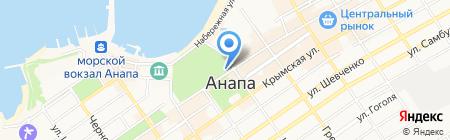 Домино на карте Анапы