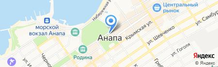 Посейдон на карте Анапы