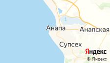 Отели города Анапа на карте