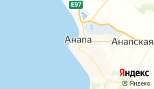 Гостиницы города Анапа на карте