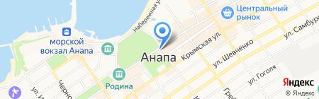 Афина на карте Анапы