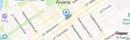 Адамант на карте Анапы