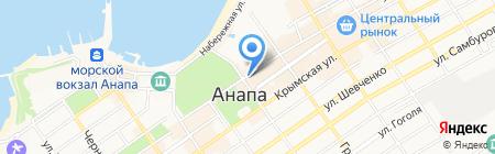Центральный на карте Анапы