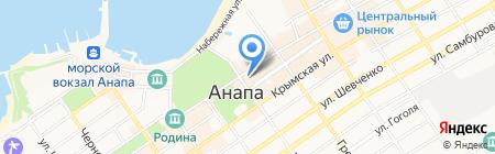 Оптика на карте Анапы