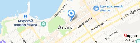 Белый квадрат на карте Анапы