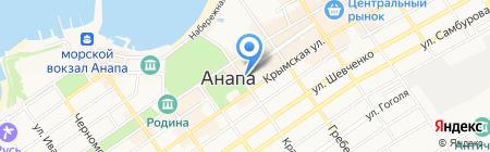 Продуктовый магазин на Терской на карте Анапы