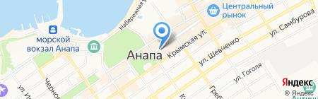 Тихий дворик на карте Анапы