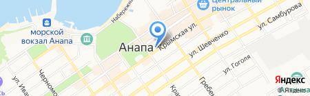 Роза Бронзэ на карте Анапы