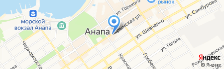 Есаулъ на карте Анапы