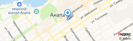 Почтовое отделение №2 на карте Анапы