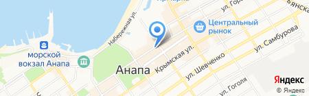 Алеся на карте Анапы