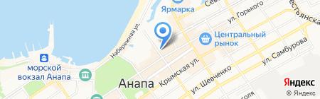 Черноморка на карте Анапы