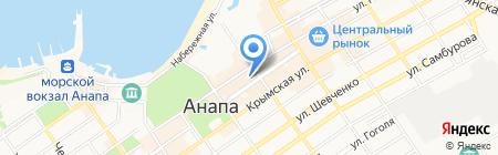 Стейк-Хаус Lucky Bull на карте Анапы