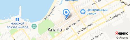 Саквояж на карте Анапы