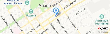 Адвокатский кабинет Галимова Р.Р. на карте Анапы