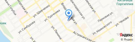 Авалон на карте Анапы