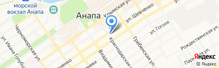 Елена на карте Анапы